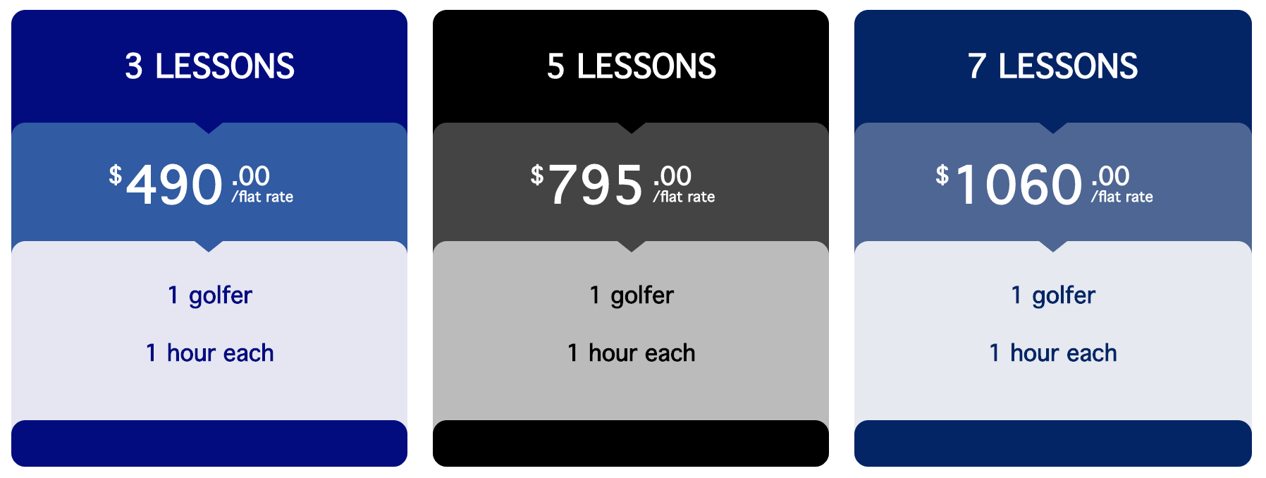 Individual Lessons: $175/h